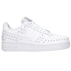 Nike Air Force 1 Low Star Studded White Shoes
